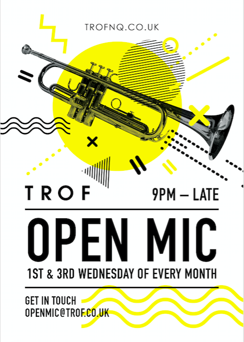 poster for Open Mic - 1st & 3rd Wednesday of the month