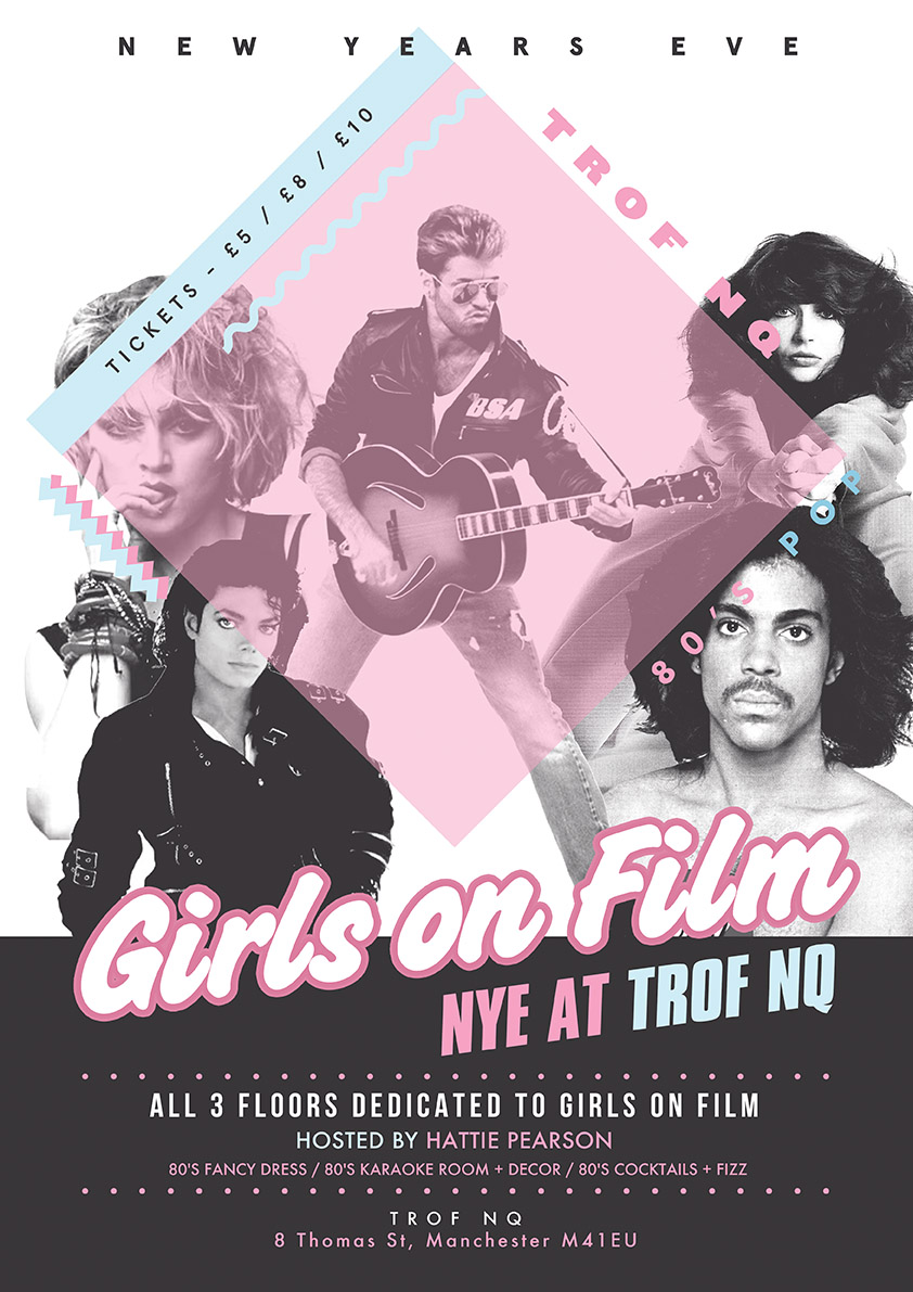 poster for Girl's On Film - New Year's Eve // 10pm-3am