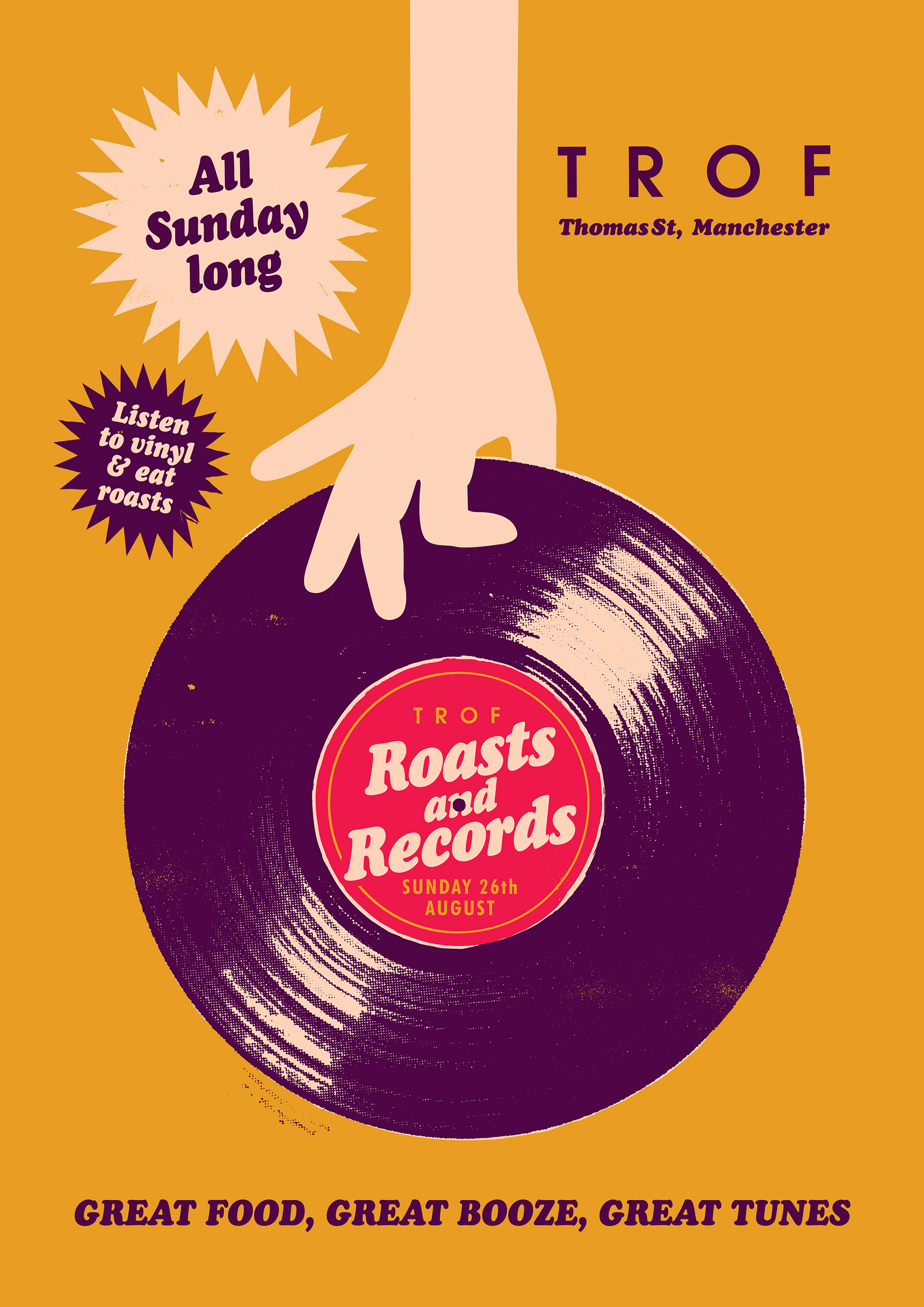 poster for BANK HOLIDAY: ROASTS AND RECORDS