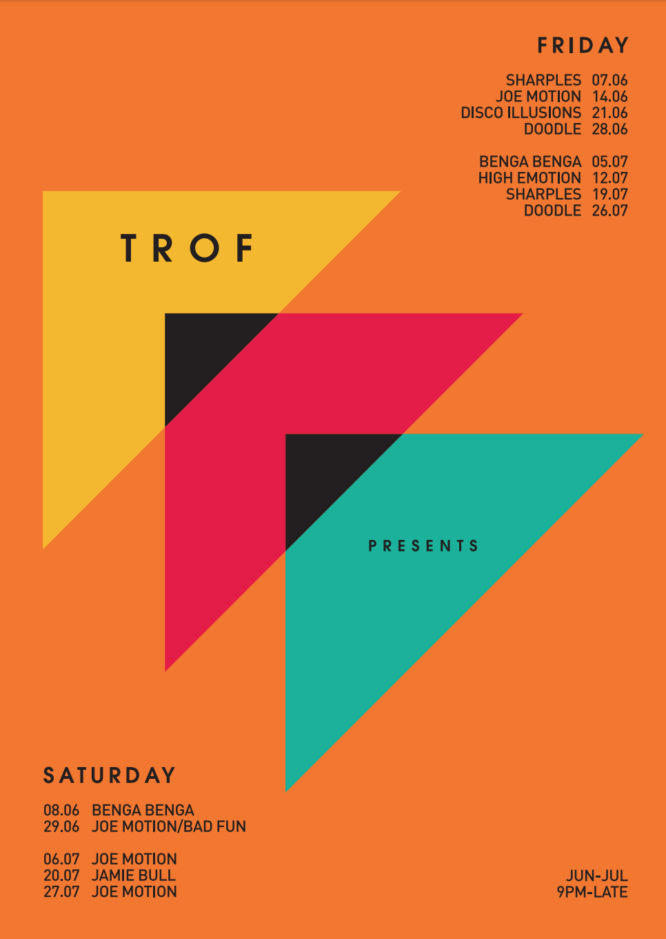 poster for TROF PRESENTS
