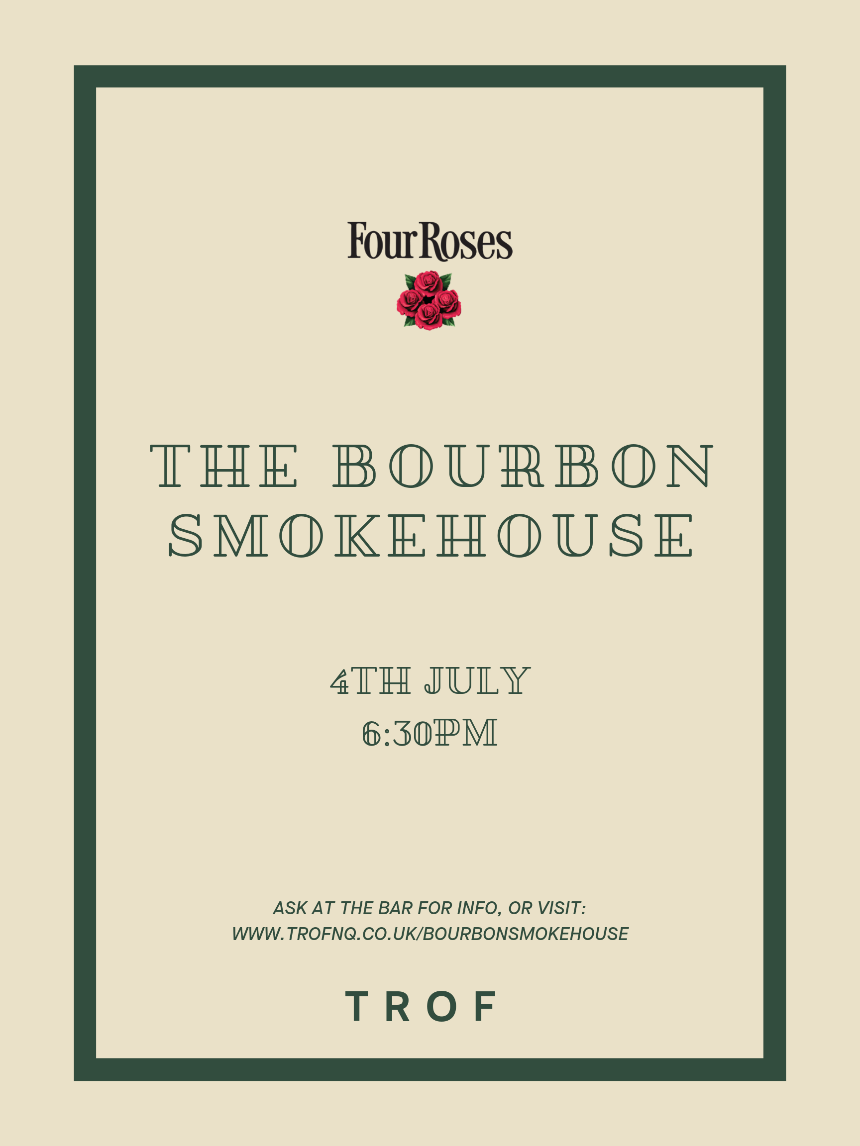 poster for THE BOURBON SMOKEHOUSE