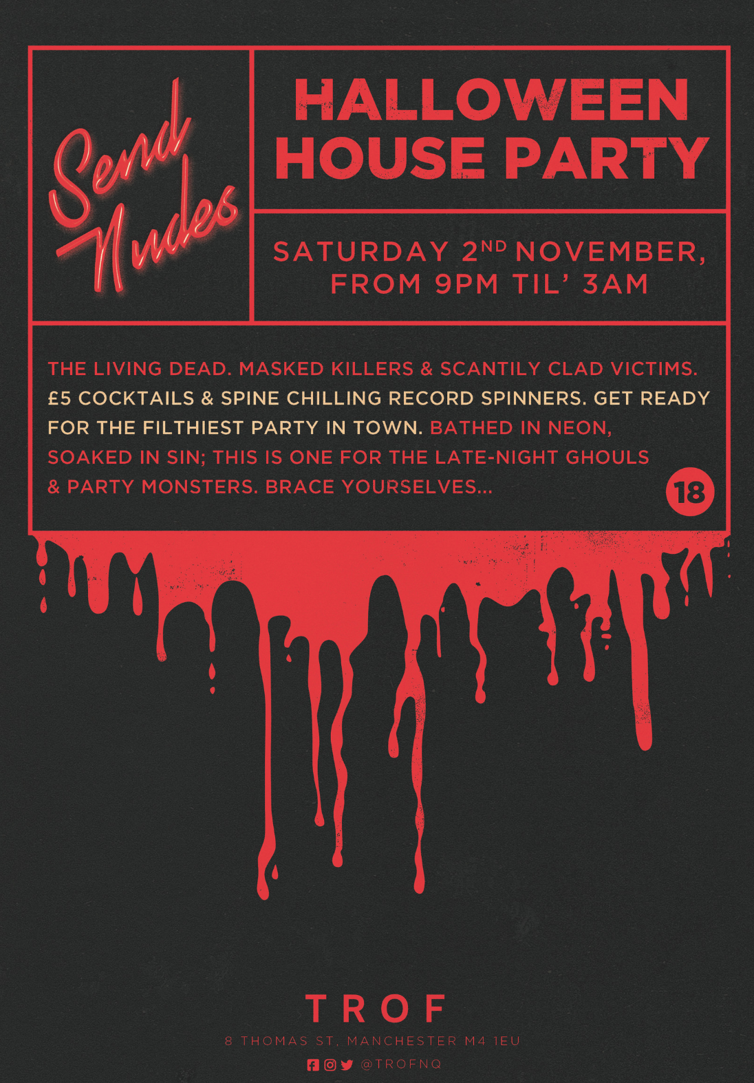 poster for SEND NUDES - Halloween House Party
